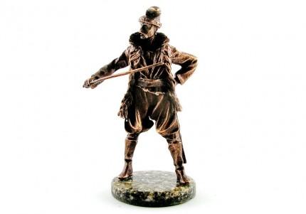 Козак з шаблею - статуетка з олова
