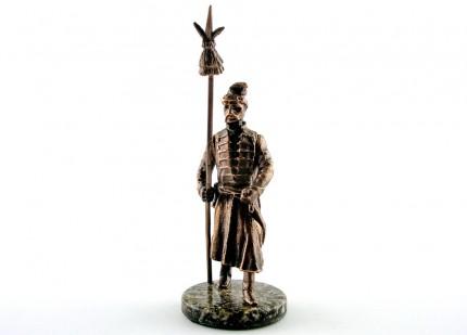 Козак зі списом - статуетка з олова