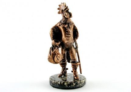 Півень з грошима - статуетка з олова